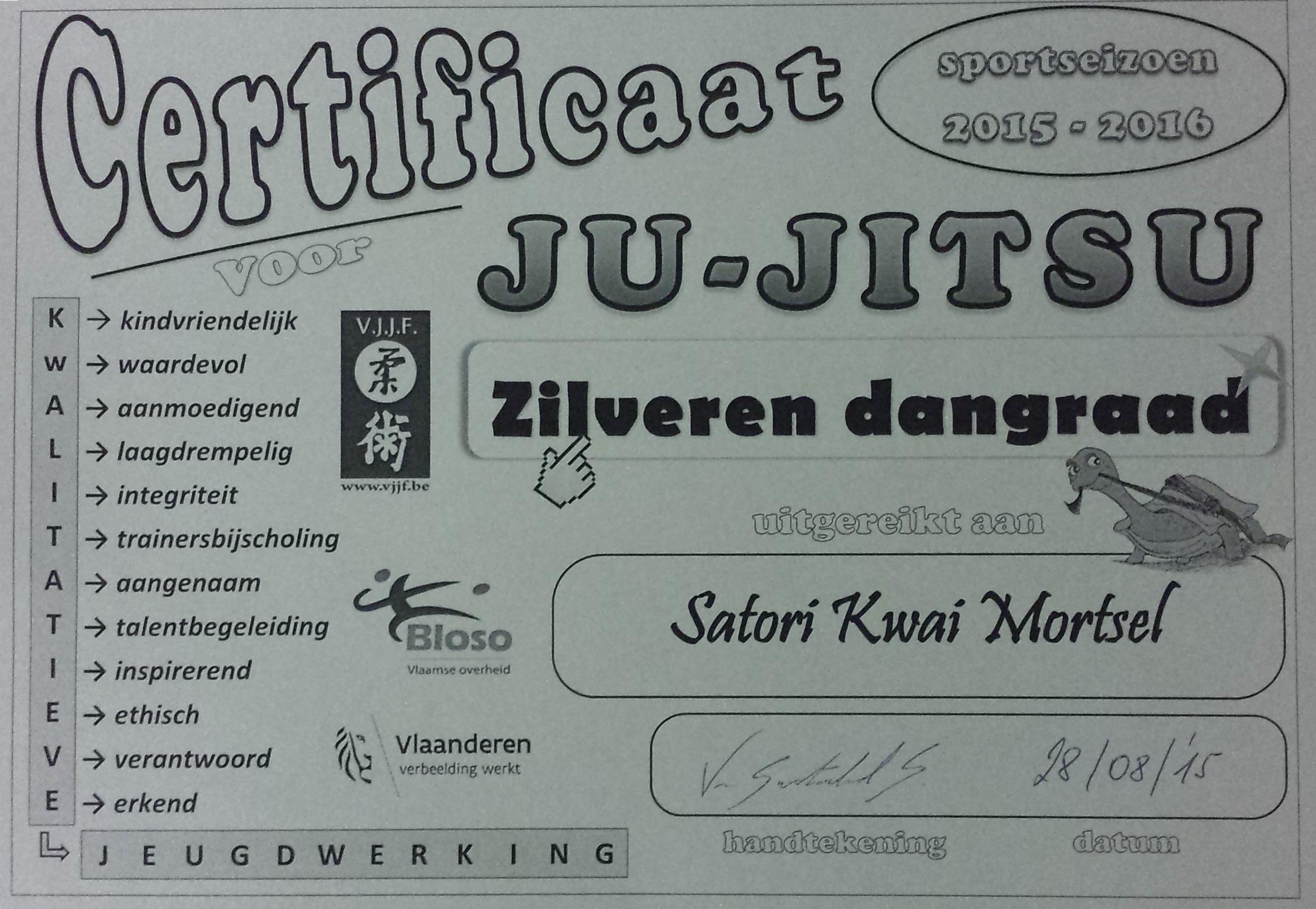 Certificaat 2015-2016